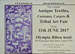 The London Antique Textiles & Tribal Art Fair 11th June 2017