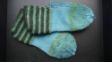 Knitted slippers - picture 1