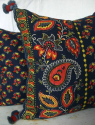 Indigo and Red Cushion - picture 3