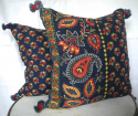 Indigo and Red Cushion - picture 4