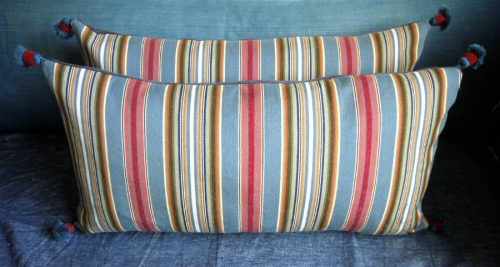 Pair of Striped Cushions