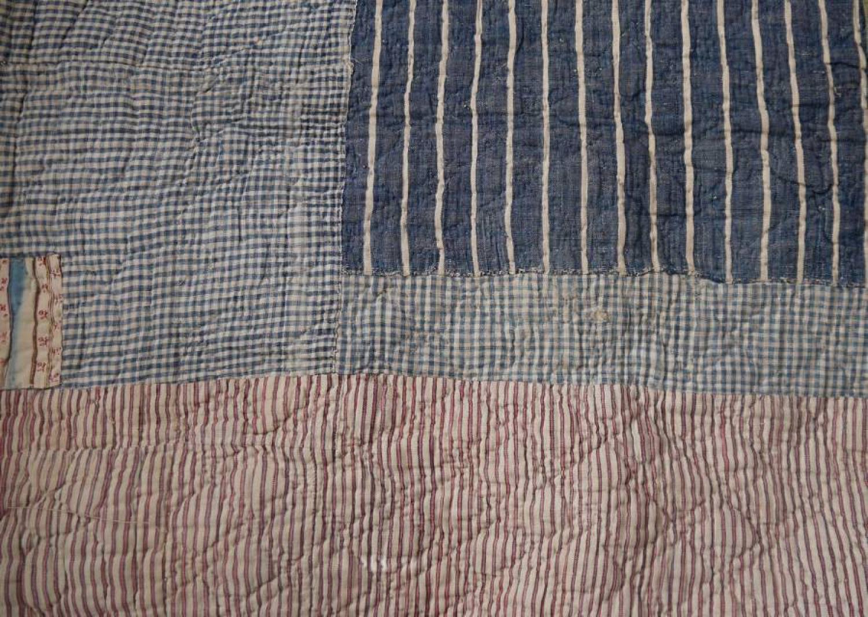 Rustic striped quilt
