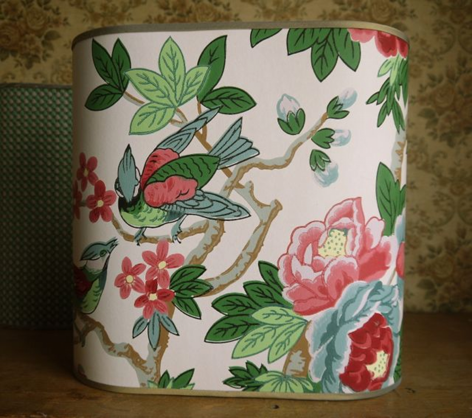 American wallpaper sample lamp shade