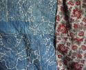 Faded indigo Toile de Rouen quilt - picture 2