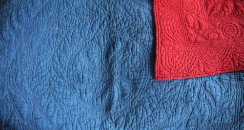 Indigo and Red Quilt