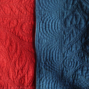 Indigo and Red Quilt - picture 5