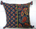 Indigo and Red Cushion - picture 1
