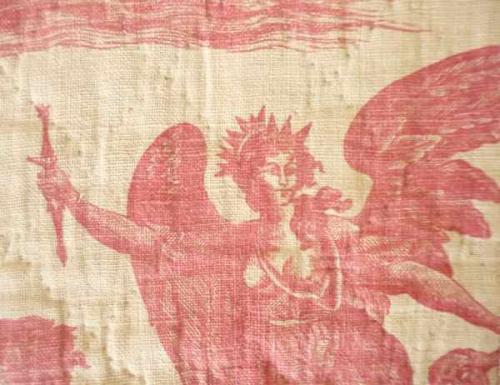 Circa 1790`s toile de Nantes quilt