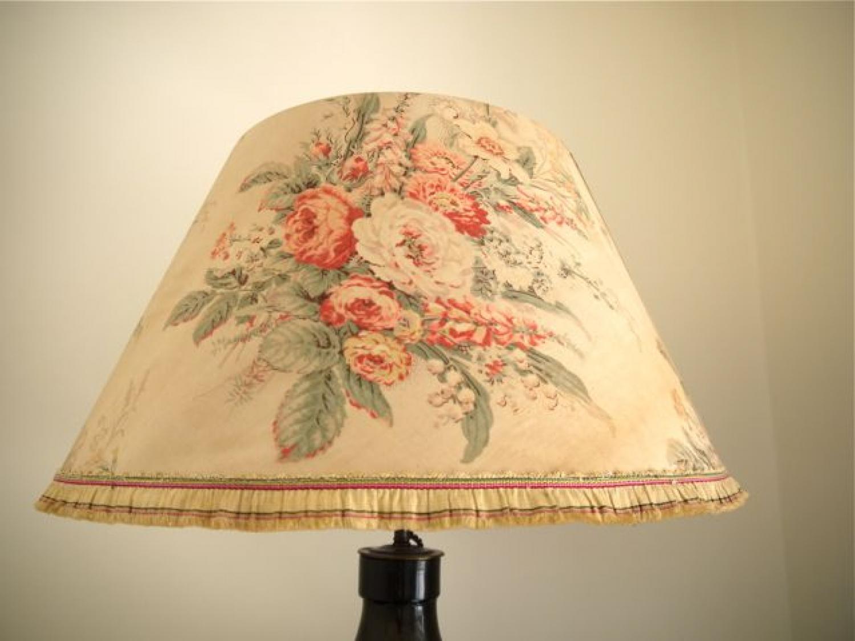 1920s English chintz lampshade