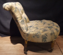 Silk covered low chair - picture 2