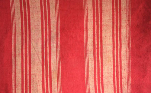 4 Red Striped Cotton Lengths
