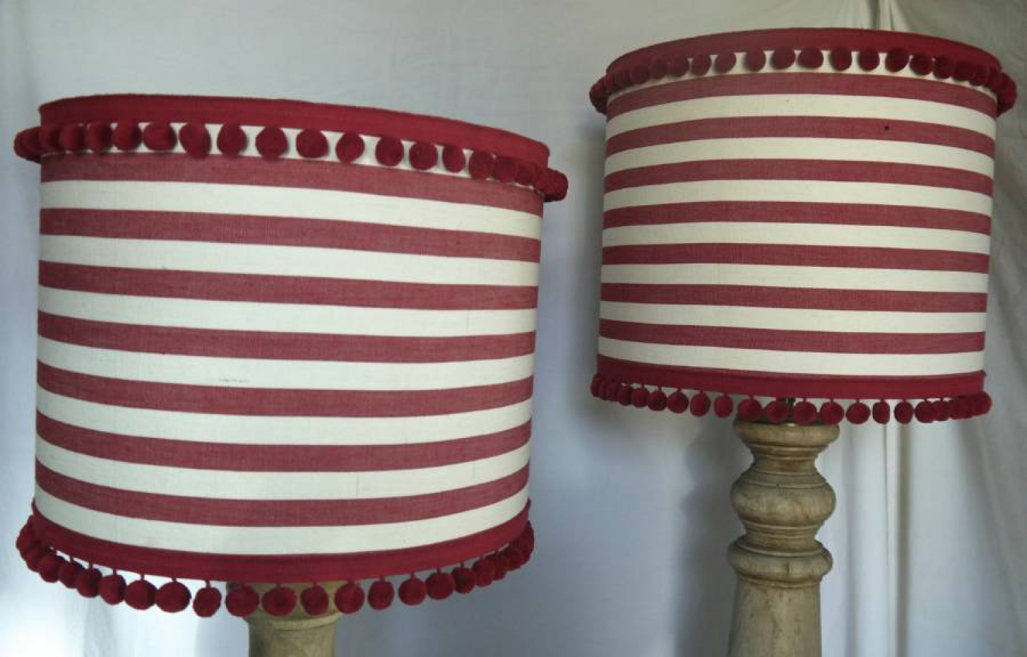 Pair of Striped Lampshades