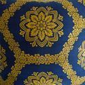 19th Century French Empire Indigo and Saffron Cushion - picture 3