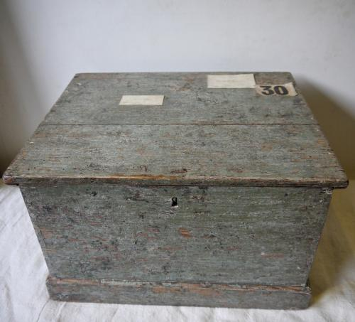 19th century English Painted Storage Box