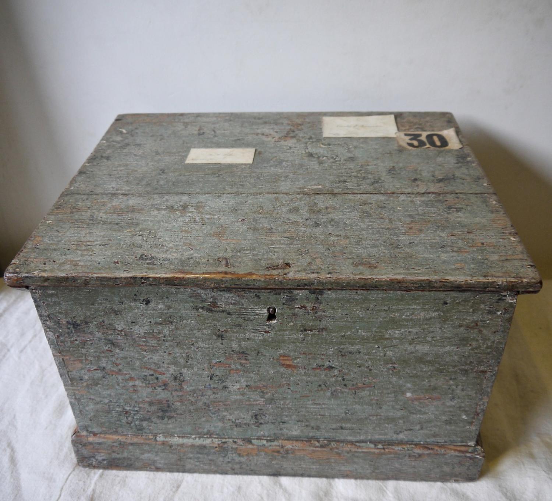 19th century English Painted Storage Box