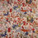 Vintage French Printed Cotton Chinoiserie - picture 2