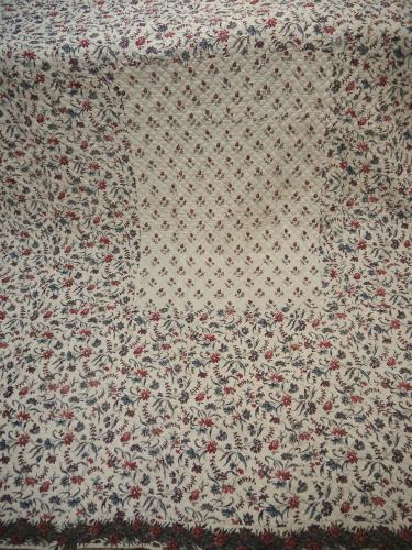 18th century French Blockprinted Cotton Quilt