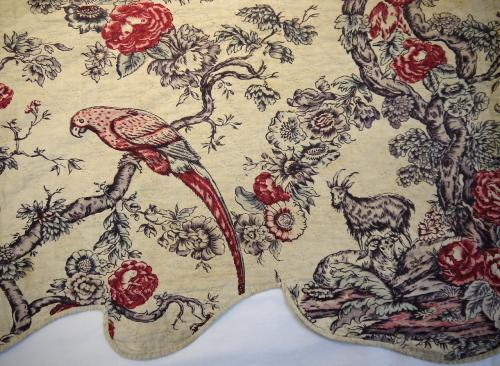 18th century French Pelmet with Parrots