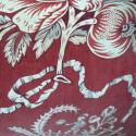 19th century French Printed Velvet Cushion - picture 2