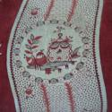 19th century French Printed Velvet Cushion - picture 4