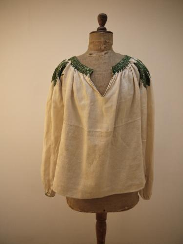 19thc Spanish Silk Embroidered Linen Blouse