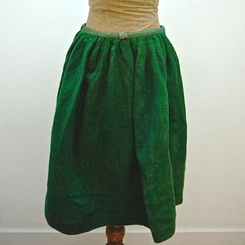 19th century French Wool Skirt from Lourdes