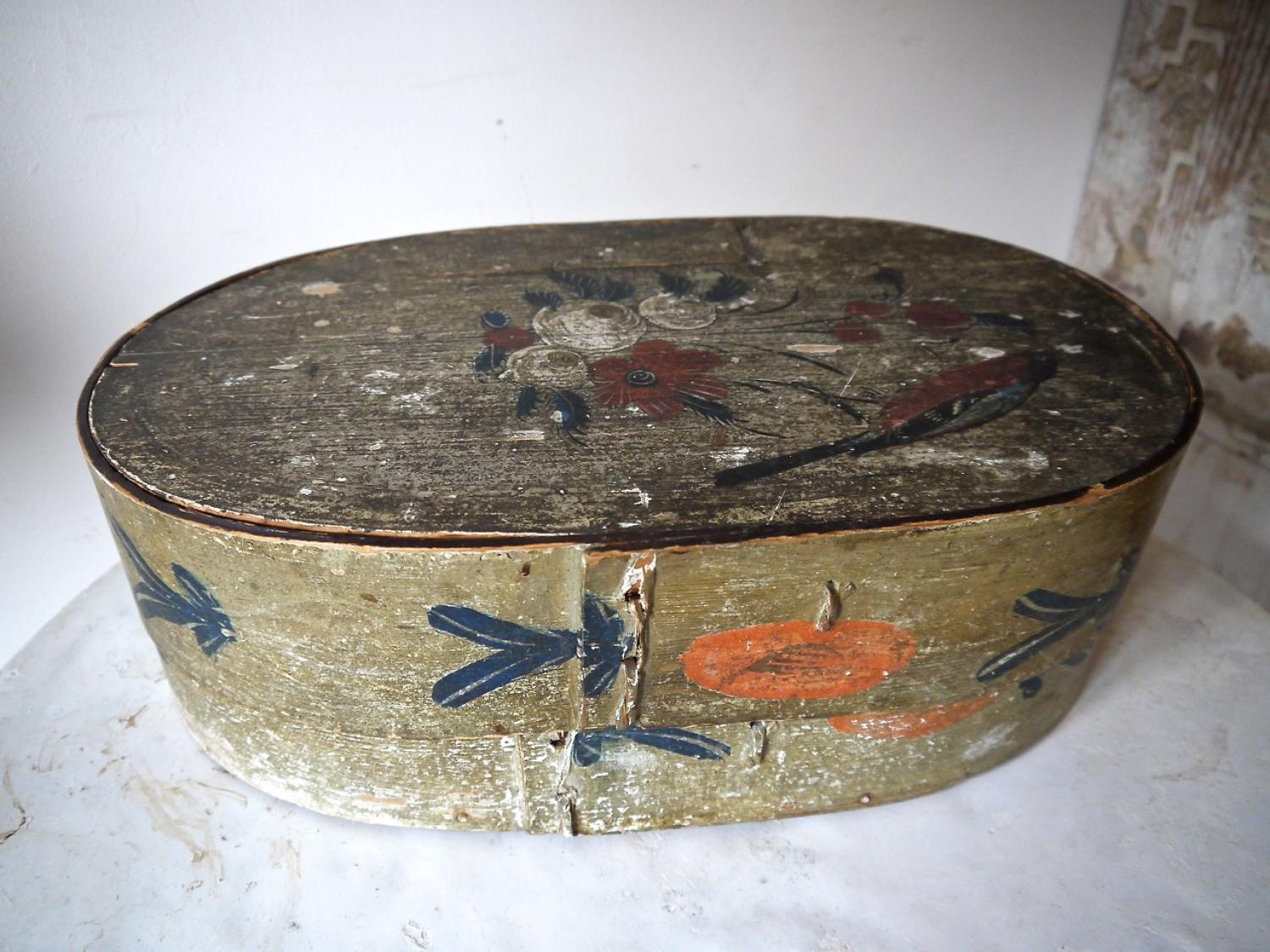 19th century Swedish Painted Box