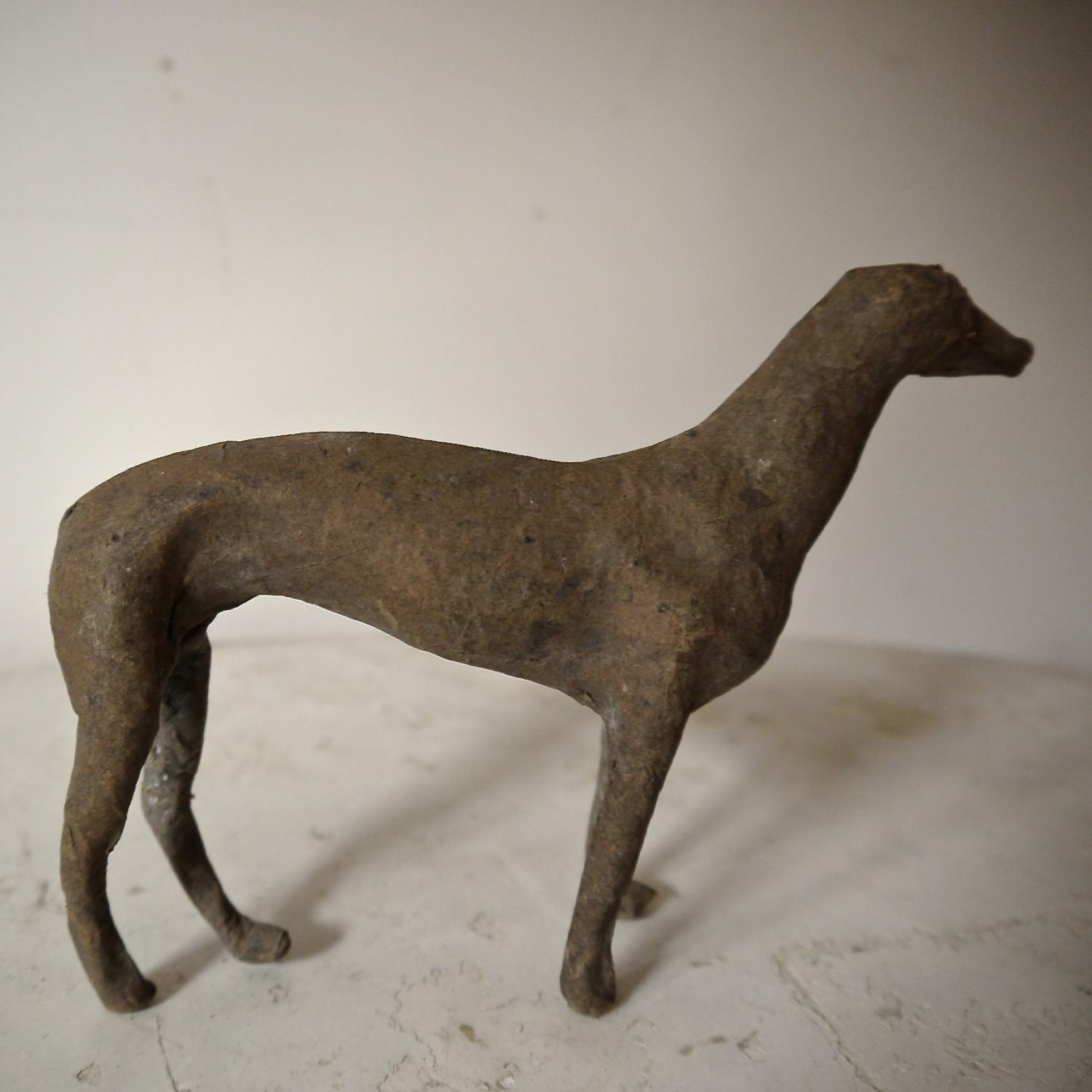 19th century French Papier Mache Greyhound