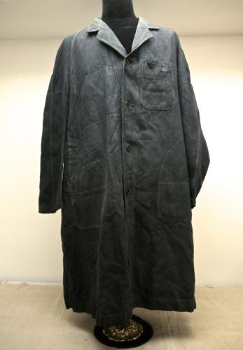 1920s French Indigo Linen Maquignon Coat