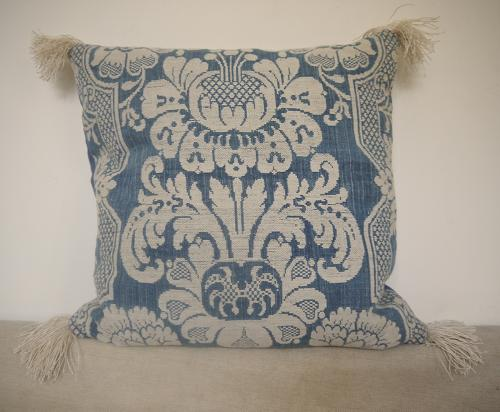 1760s French Toile de'Abbeville Woven Cushion