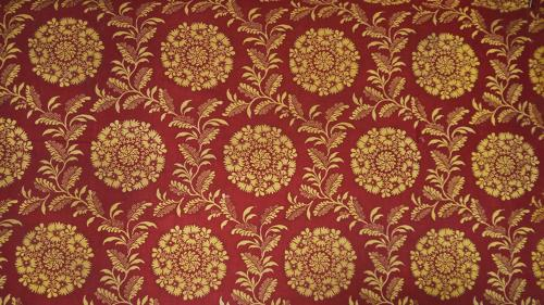 French Empire Saffron Cotton Panel