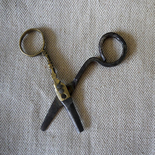 Small Pair of Brass and iron Scissors