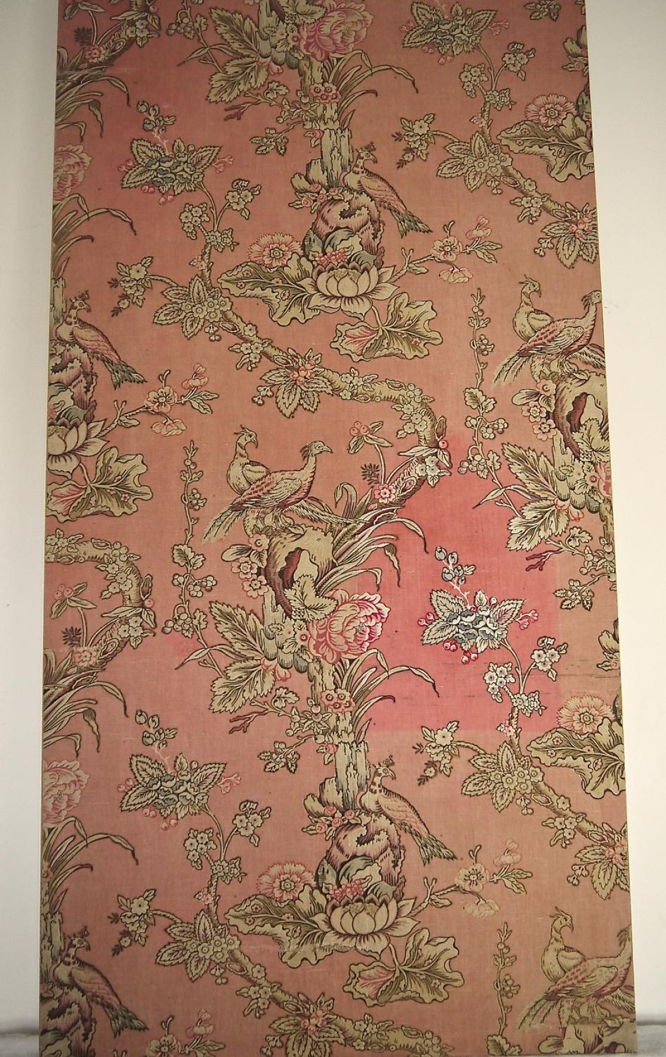 19th century French Printed Linen Panel