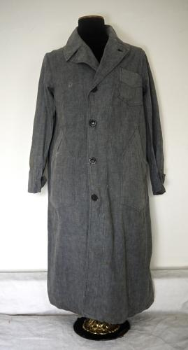 Vintage 1930s French Grey Factory Coat