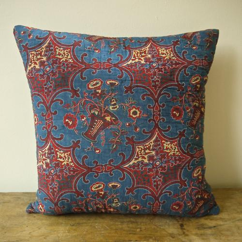 C.1800 French Blockprinted Cushion