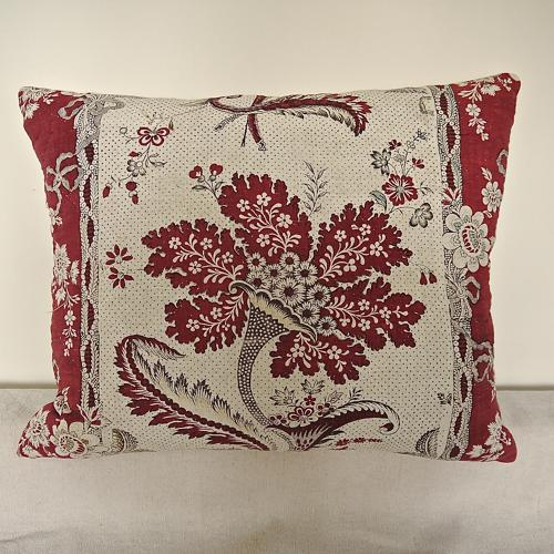 C.1790s  French 'La Corne Fleurie' Cushion