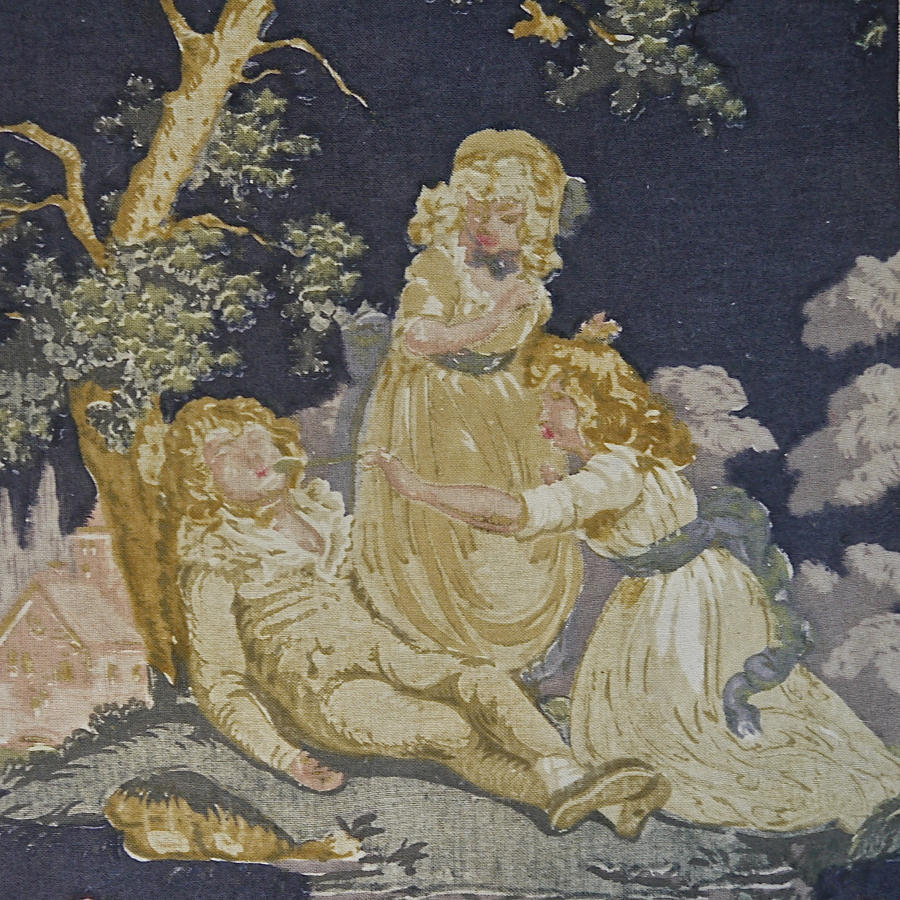 Early 20th century French Toile with Children