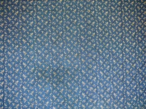 19th century French Antique Indigo Quilt