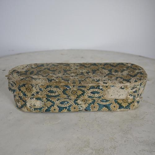 Late 18th century French domino papier mache box
