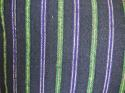 19th century French indigo green purple striped cushion - picture 2