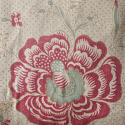 19th century French linen long block printed cushion - picture 2