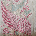 19th century French linen long block printed cushion - picture 3