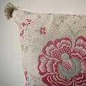 19th century French linen long block printed cushion - picture 4