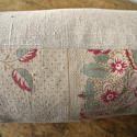 19th century French linen long block printed cushion - picture 7