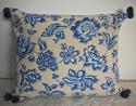 1930s French blue and white cotton cushion - picture 1