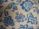 1930s French blue and white cotton cushion - picture 2