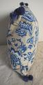 1930s French blue and white cotton cushion - picture 3