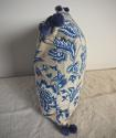 1930s French blue and white cotton cushion - picture 6