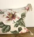 1950-60s English large scale magnolias tassel cushion - picture 2