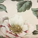 1950-60s English large scale magnolias tassel cushion - picture 6